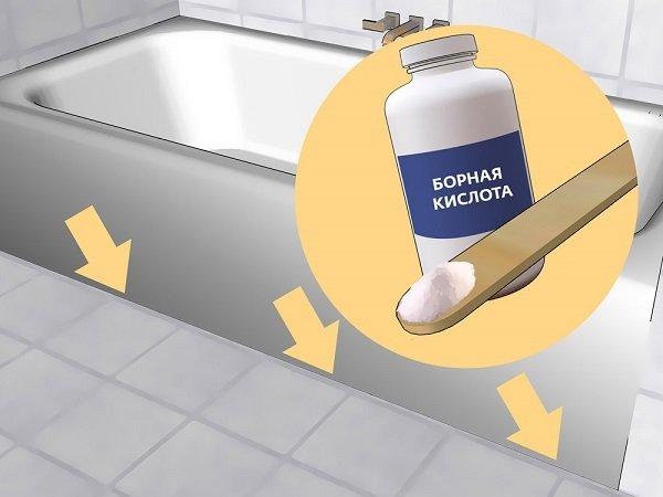 Борная кислота поможет избавиться от чешуйницы