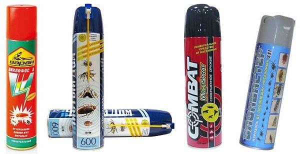 Аэрозоли и спреи также очень эффективны в борьбе с тараканами
