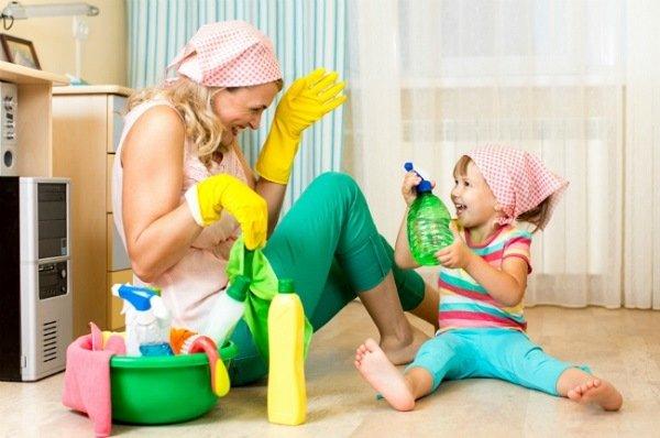 После обработки помещения необходимо провести уборку