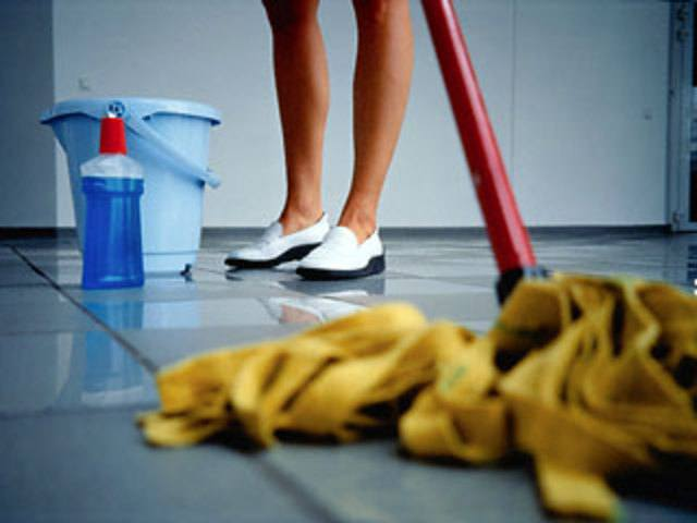 """Мытье пола после использования дуста """"Чистый Дом"""""""