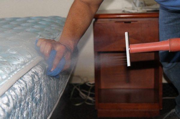 """Обрабатываем мягкую мебель """"Фуфаноном"""" из распылителя"""