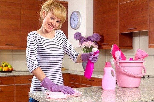 Влажная уборка на кухне