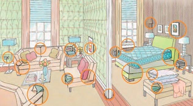 Возможные места обитания клопов в квартире