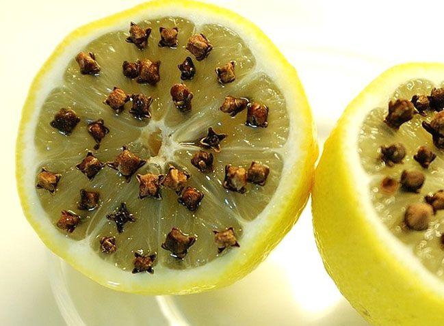 Резкие запахи лимона и гвоздики отпугивают мошек
