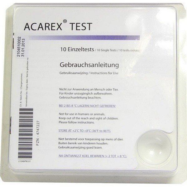 """""""Acarex Test"""" поможет выявить пылевых клещей у Вас дома"""