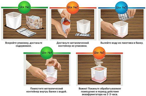 Инструкция по применению аквафумигатора
