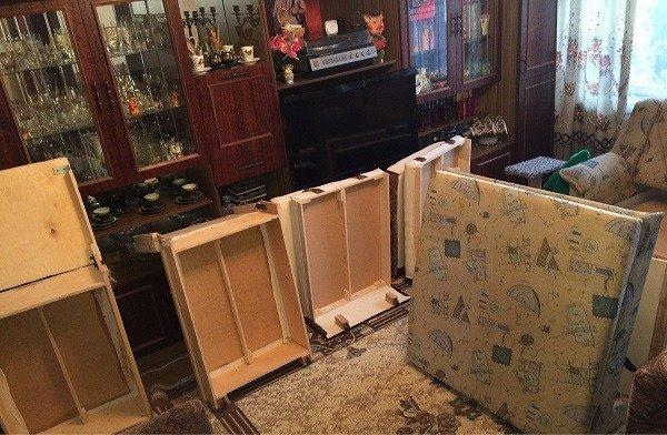Начните обработку с мебели