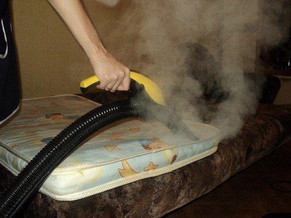 Обработайте мягкой мебели сухим горячим паром