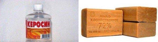 Керосин и хозяйственное мыло поможет избавиться от клопов
