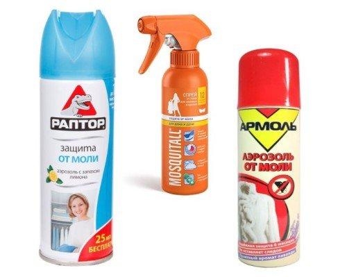 Аэрозоли от моли защитят Ваши крупы и ковры