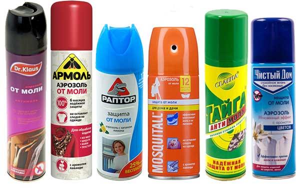 Аэрозоли от моли - надежное средство против насекомых