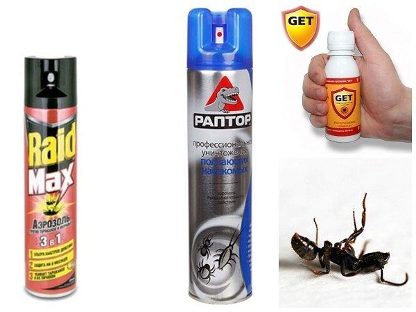 Аэрозоли против муравьев и других насекомых