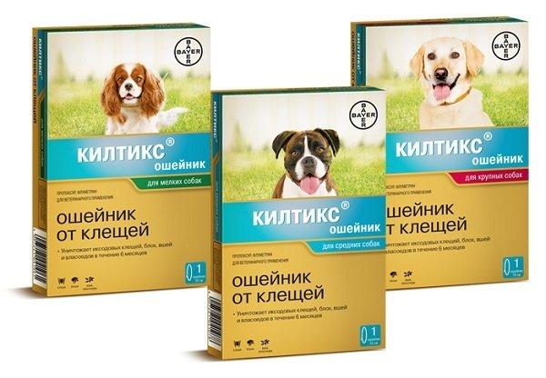 Ошейник Kiltix против клещей для собак