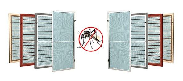 Противомоскитные сетки на окнах не впустят насекомых в Ваш дом