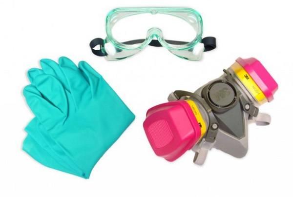 Обработка Пиретрумом требует защитной одежды